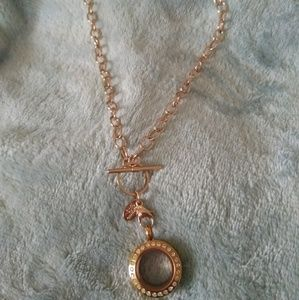 Origami owl petite (mini) rose gold locket